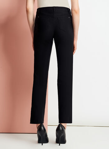 Modern Fit Straight Leg ⅞ Pants, Black, hi-res