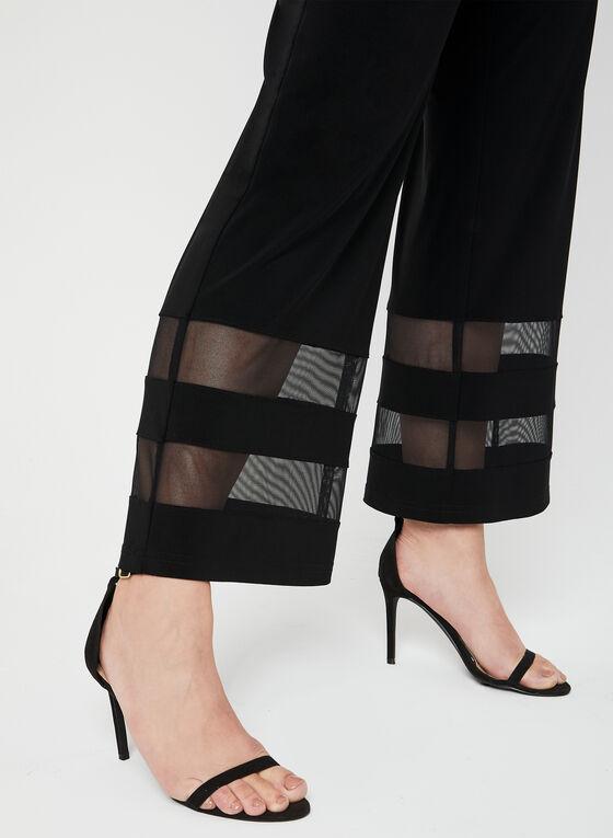 Joseph Ribkoff - Pantalon à jambe large et maille filet, Noir