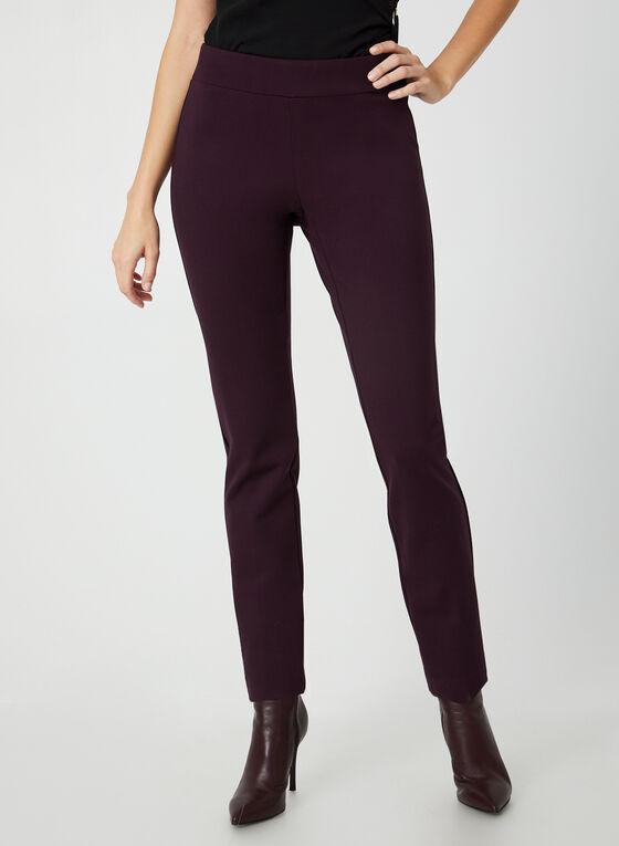 Pantalon pull-on à jambe étroite, Violet
