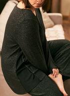 Pull en tricot chiné à manches ¾, Gris