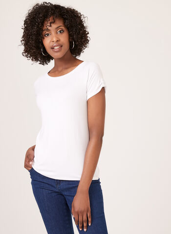 Raglan Cap Sleeve T-Shirt , White, hi-res