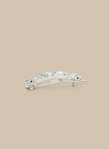 Teardrop Crystal Hair Clip, Silver,  accessories, hair clip, crystals, teardrop, spring summer 2020