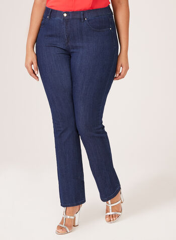 Simon Chang - Straight Leg Denim Pants, Blue, hi-res