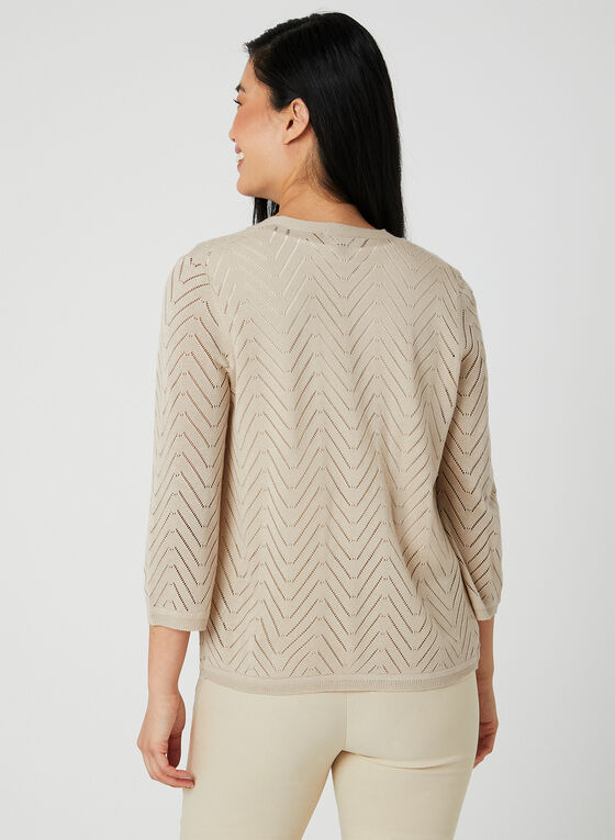 Open Front Cardigan , Off White