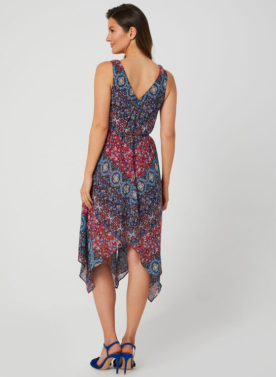 Emma & Michele - Aztec Print Dress, Red, hi-res