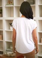 T-shirt à imprimé d'inspiration parisienne, Blanc