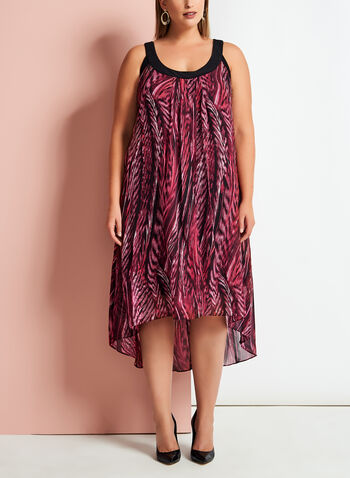Graphic Print Asymmetric Dress, , hi-res