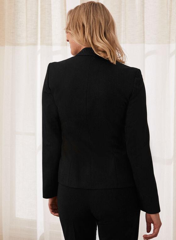 Louben - 3 Button Notch Collar Jacket, Black