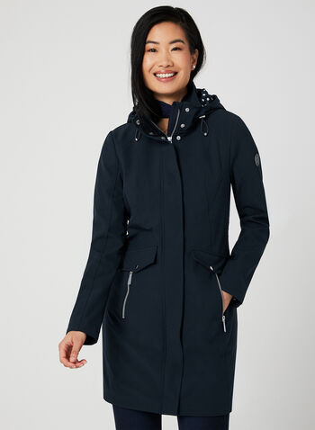 Chillax - Hooded Raincoat, Blue, hi-res,  Spring 2019, raincoat, hooded, long sleeves,