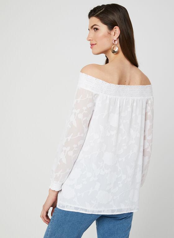 Off-the-Shoulder Blouse, White, hi-res