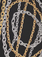 Chain Print Lightweight Scarf, Black