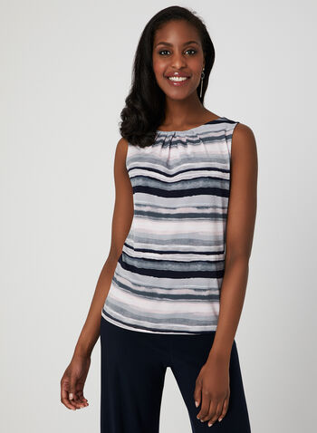 Stripe Print Jersey Top, Multi, hi-res