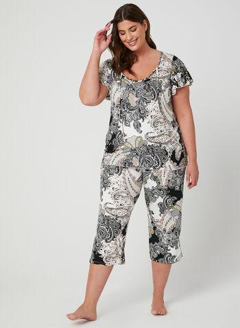 Hamilton - Pyjama 2 pièces imprimé cachemire, Multi, hi-res