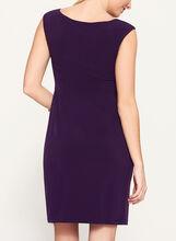 Faux Wrap Sleeveless Jersey Dress, Purple, hi-res