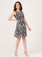 Lace Fit & Flare Dress, Blue, hi-res