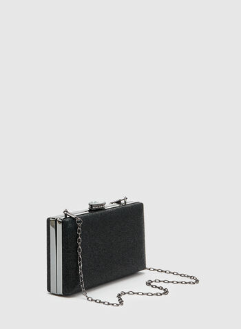 Glitter Clutch , Black, hi-res