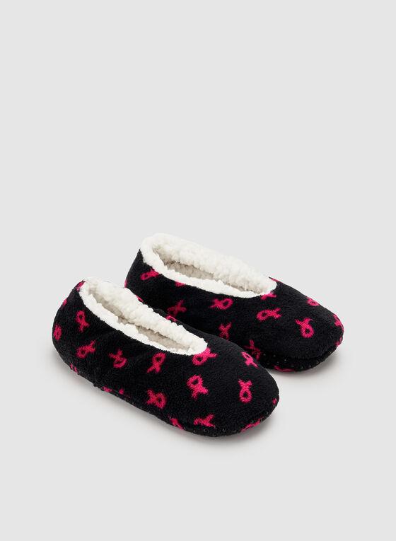 Hot Steps - Pantoufles molletonnées à motif rubans, Multi, hi-res