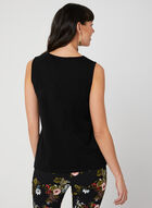 Lace Trim Cami, Black, hi-res