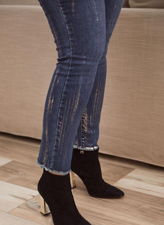 Joseph Ribkoff - Foil Detail Slim Leg Jeans, Blue