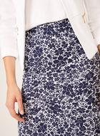 Jupe longue florale pull-on, Bleu, hi-res