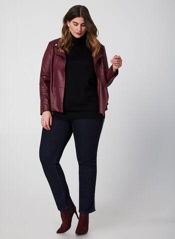 Simon Chang - Jeans à bandes contrastantes, Bleu, hi-res,  jeans, signature, jambe étroite, bandes contrastantes, automne hiver 2019