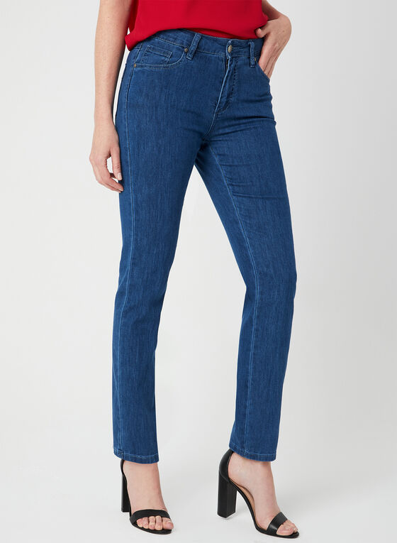 Simon Chang - Signature Fit Straight Leg Jeans, Blue, hi-res