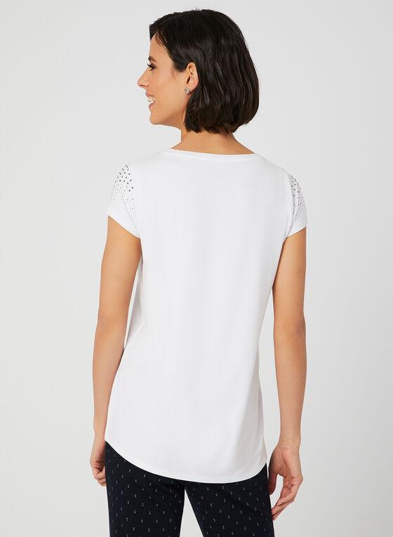 Crystal Embellished T-Shirt, White