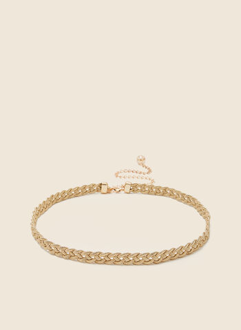 Braided Chain Belt, Gold,  fall winter 2020, belt, braided, chain, golden finish, holiday, holiday 2020, gift