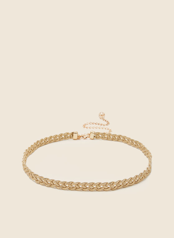 Braided Chain Belt, Gold