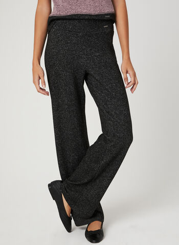 Pull On Knit Pants, Grey, hi-res