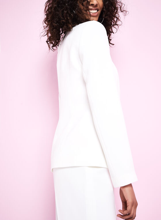 Eyelet Detail Jacket, Off White, hi-res