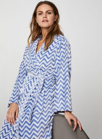 Karmilla Lingerie - Belted Bathrobe, Red,  bathrobe, sleepwear, pyjama, chevron, zigzag, fall 2019, winter 2019
