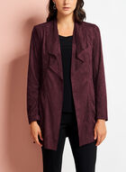 Faux Suede Cascade Jacket, Red, hi-res