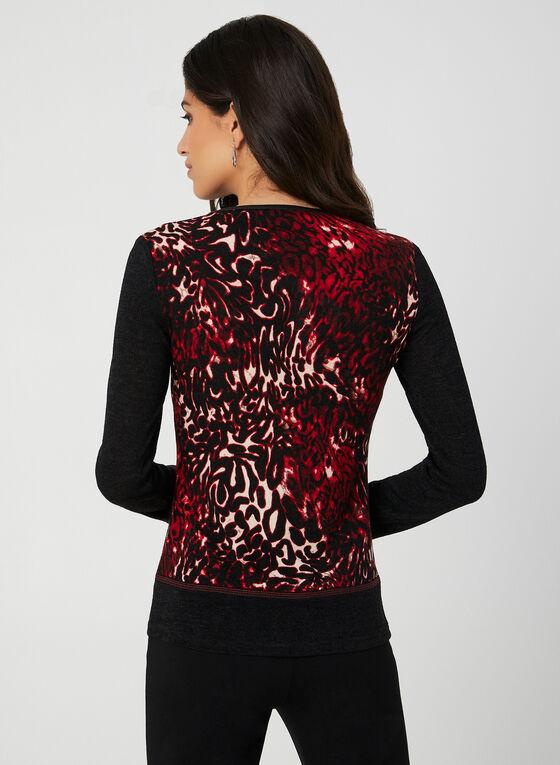 Vex - Pull imprimé léopard, Rouge