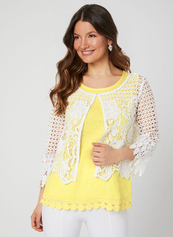 Ness - ¾ Sleeve Crochet Bolero, Off White