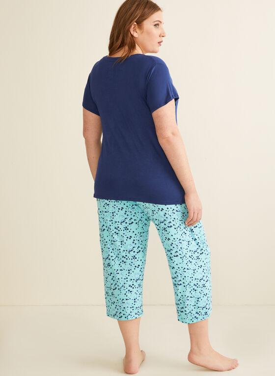 Pillow Talk - Pyjama 2 pièces motif astral, Bleu