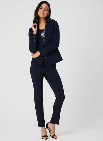 Modern Fit Straight Leg Pants, Blue, hi-res,