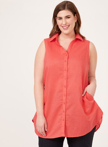 Lily Moss - Sleeveless Tunic, Red, hi-res