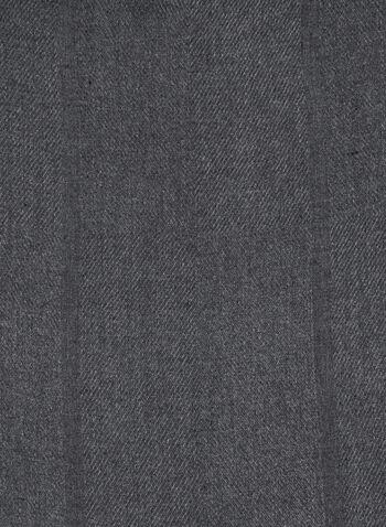 Foulard uni texturé et doux, Noir, hi-res