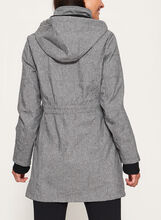 Structured Softshell Coat, Grey, hi-res