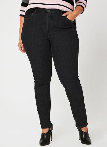 Simon Chang - Slim Leg Jeans, Black, hi-res
