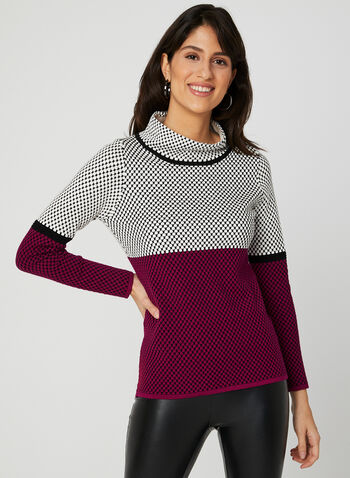Elena Wang - Dot Print Sweater, Black, hi-res