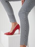 Pantalon motif géométrique à longueur cheville, Bleu, hi-res