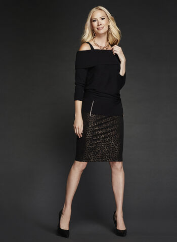 Animal Print Pencil Skirt, , hi-res