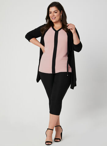Sleeveless Crepe Top, Pink, hi-res