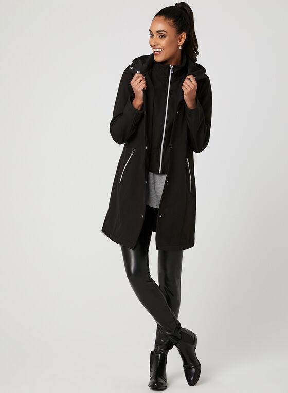 Hooded Transition Bib Coat, Black, hi-res