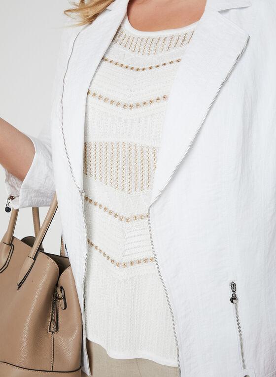 Ness - Sleeveless Bead Detail Top, White, hi-res