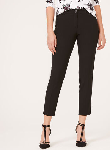 City Fit ⅞ Straight Leg Pants, Black, hi-res