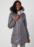 Marcona - Quilted Faux Down Coat, Purple, hi-res