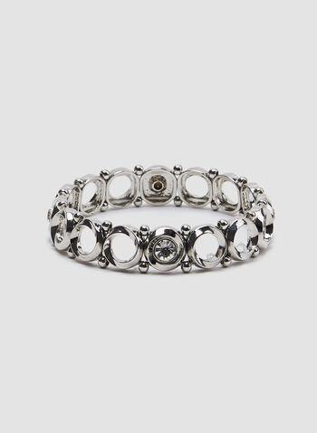 Crystal Embellished Bracelet, Silver, hi-res